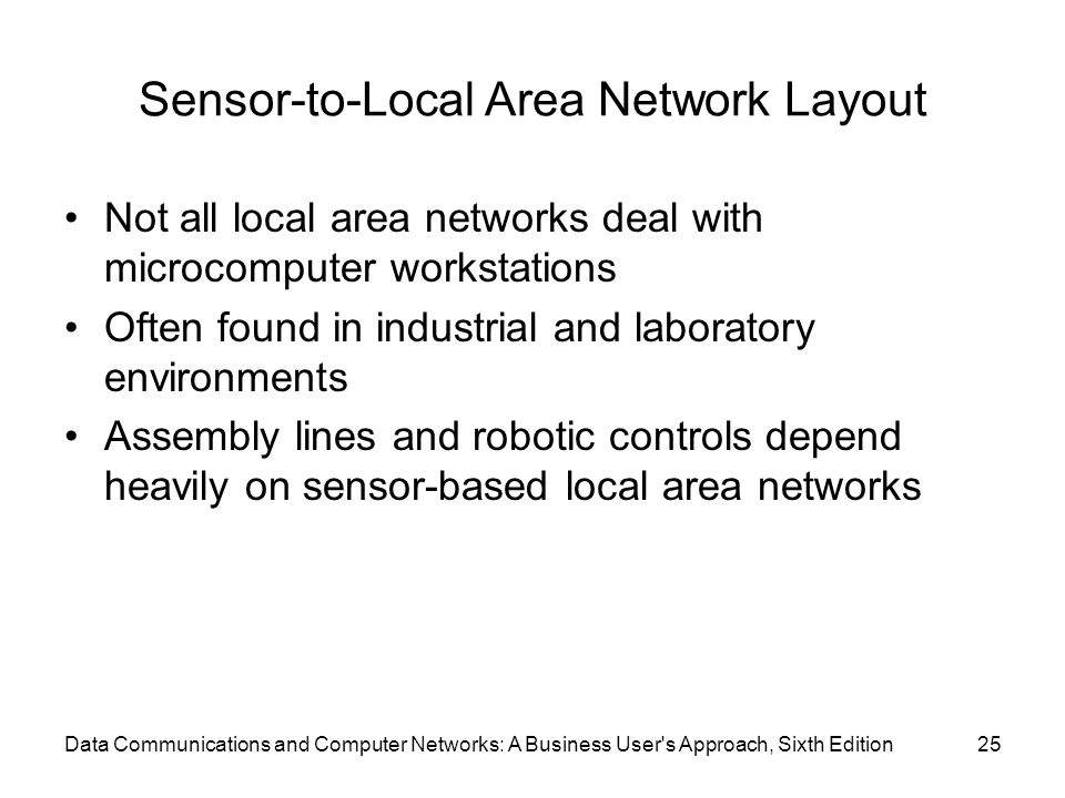 Sensor-to-Local Area Network Layout