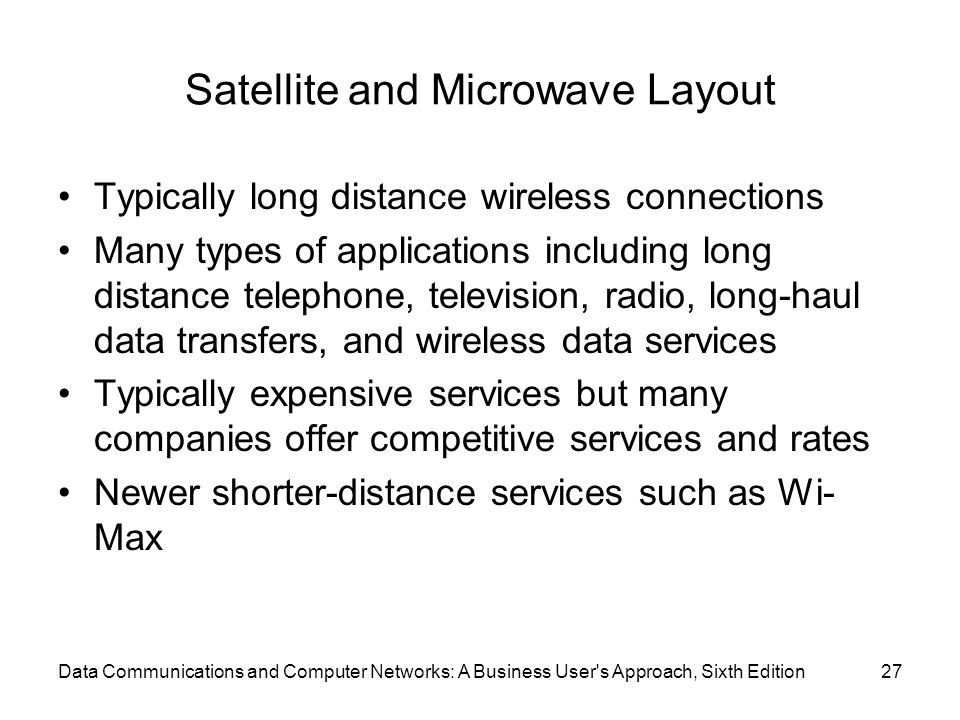Satellite and Microwave Layout