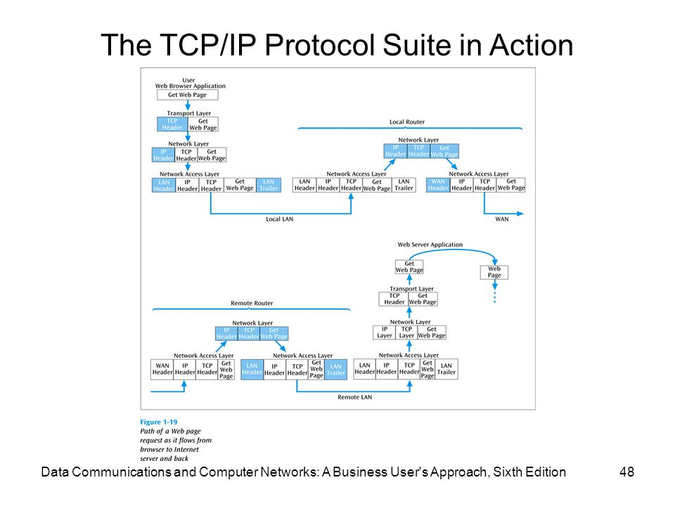 The TCP/IP Protocol Suite in Action (continued)