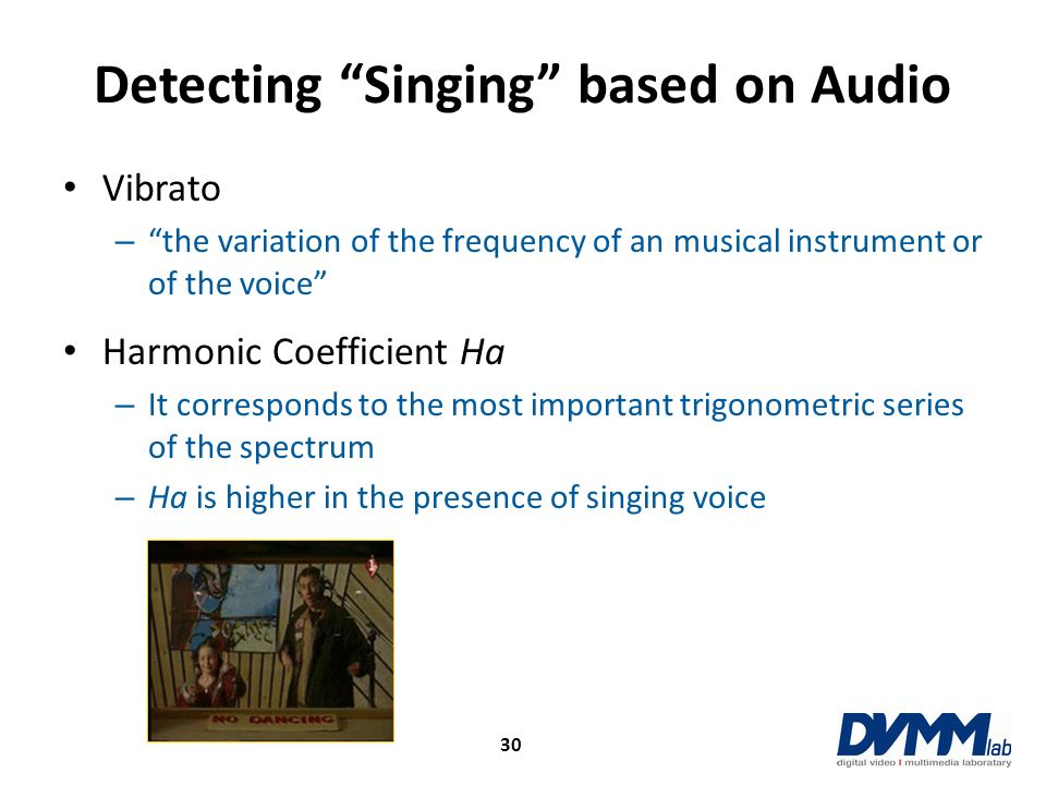 Detecting Singing based on Audio