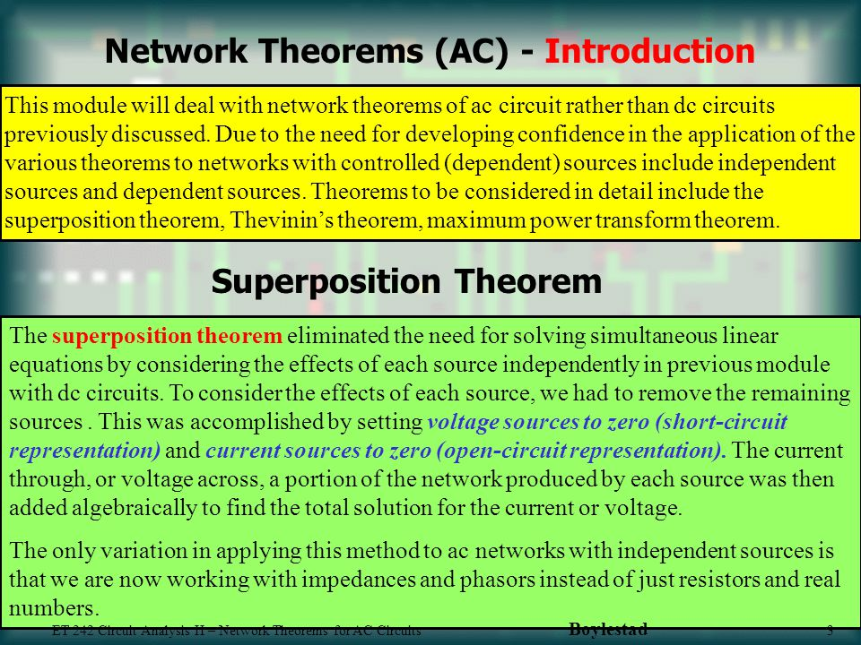 Network theorms