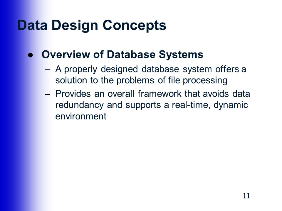 database systems concepts We will look at the core concepts and structure of a relational database such as  tables, columns, rows, etc.