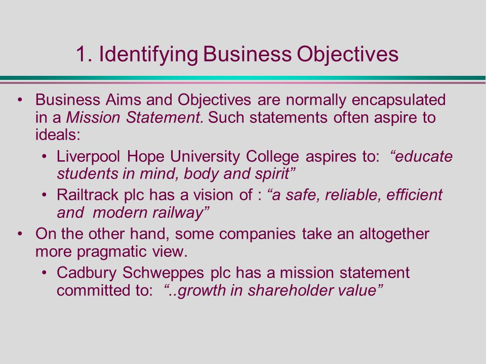 mission and objectives of cadbury
