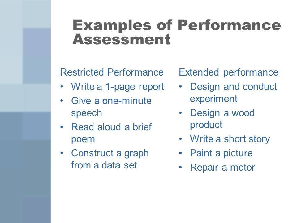 Performance Assessments  Ppt Video Online Download