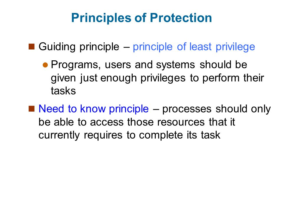 Principles of Protection