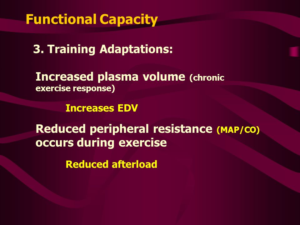 Functional Capacity 3. Training Adaptations: