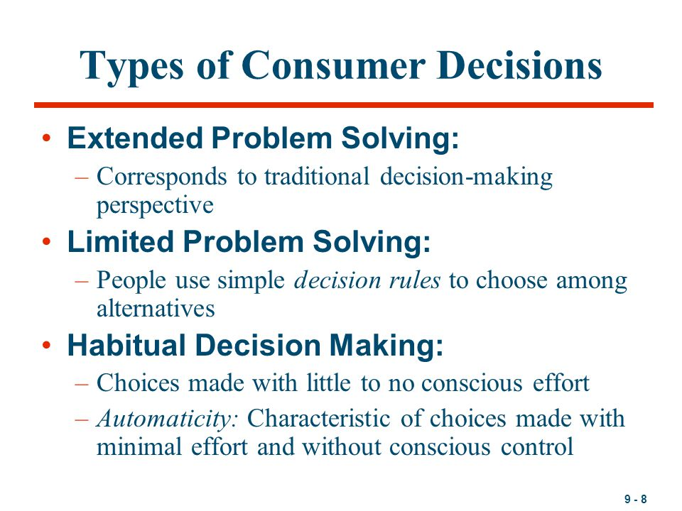 consumer decisions The consumer or buyer decision making process is the method used by  marketers to identify and track the decision making process of a customer journey  from.