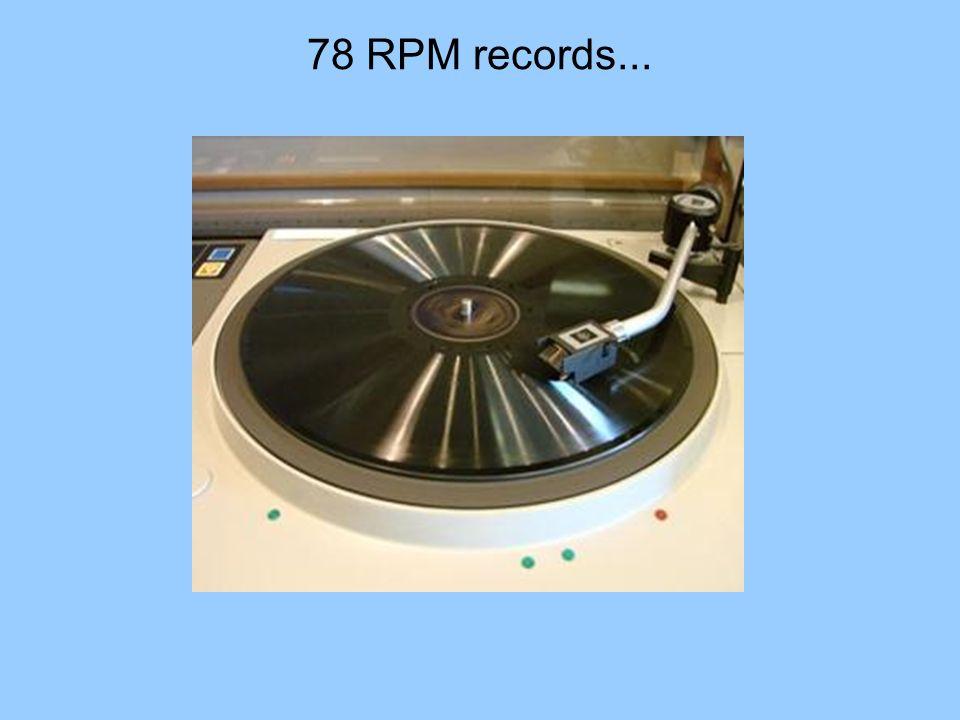 78 RPM records...