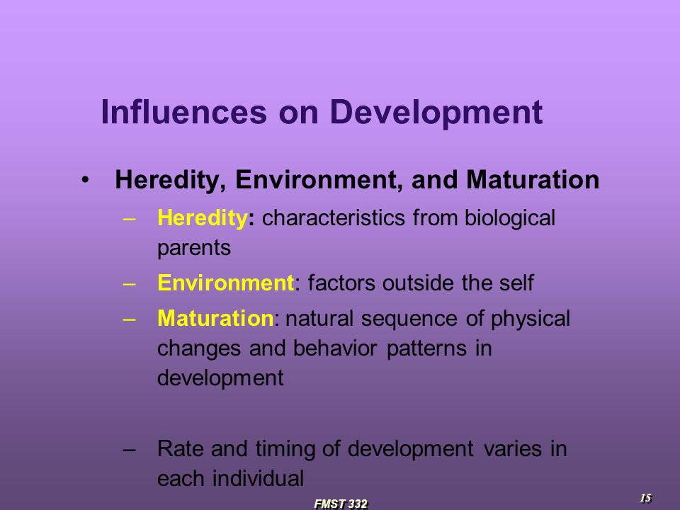 influences the affect a childs development