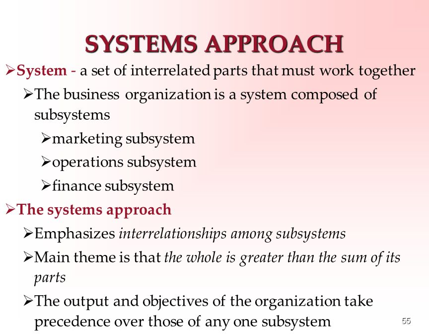 identification of the interrelationships of business systems and subsystems Learn the universal principles behind every successful business, then use these   if you can identify simpler sub-systems and focus on understanding how they   in a system-if-then or when- then relationships that influence the operation of.