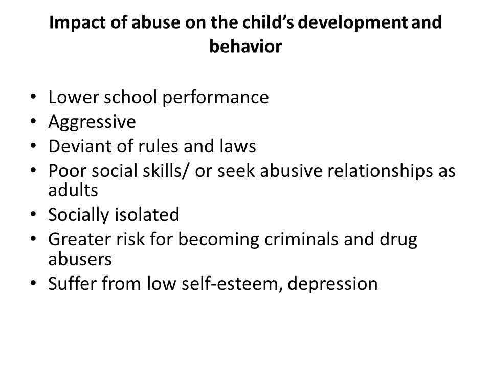 the many forms of child abuse in society The effects of child abuse are multiple the pain and trauma the abused child goes through is just a small part of how this cauldron of hidden depravity in our society affects all of us.