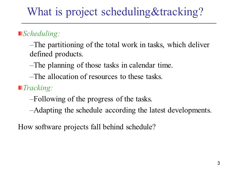 project scheduling calendar