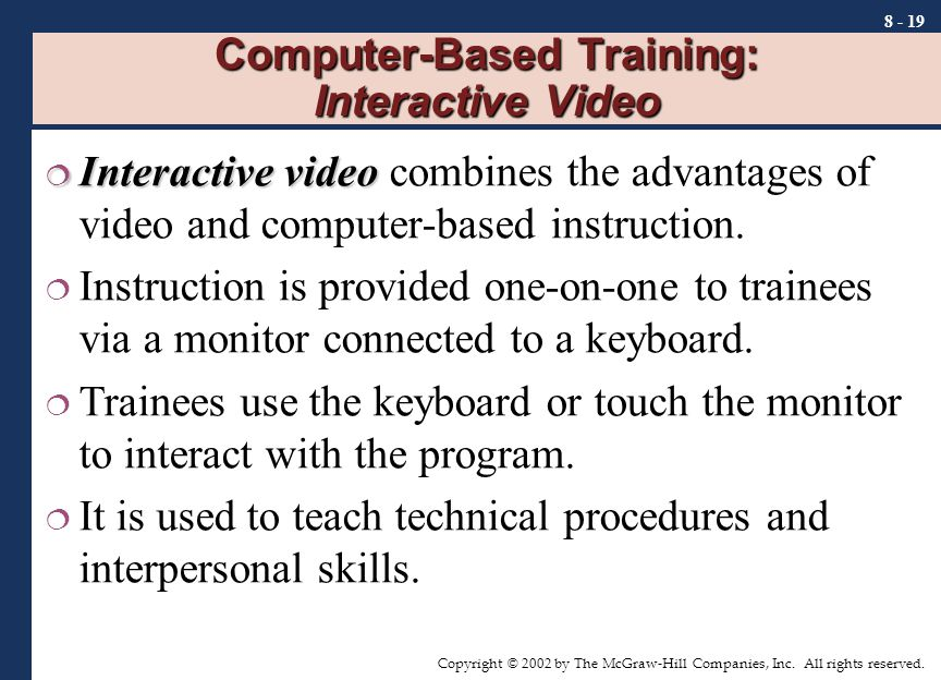 Computer Based Interactive Learning System