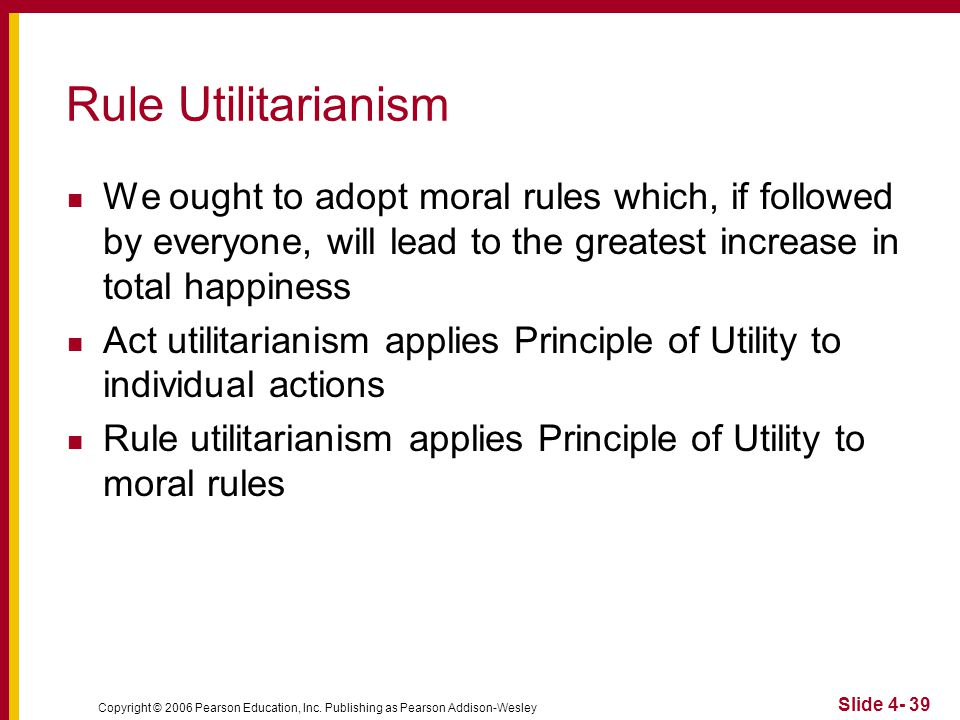 morality and rule utilitarianism Help file for current moral issues utilitarianism act-utilitarianism rule-utilitarianism richard brandt and rule-utilitarianism.