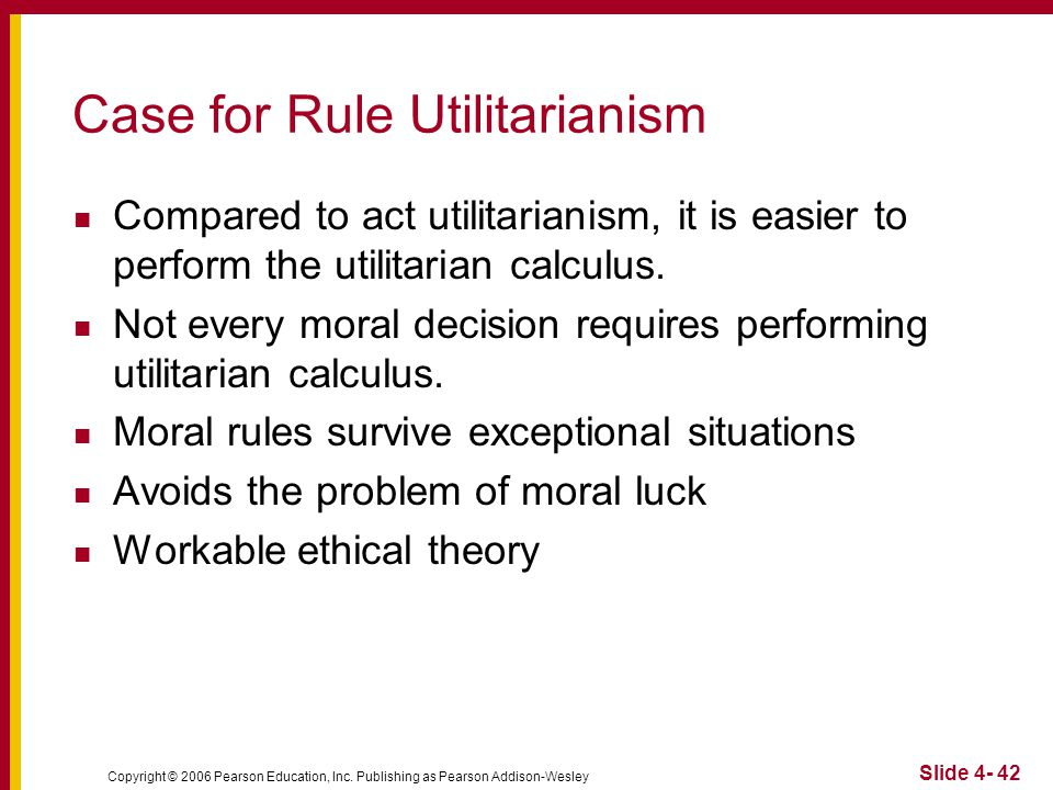 act utilitarianism 3 essay Act utilitarianism- an action is morally required if and only if it maximizes utility, generally when some uses the term utilitarianism they are referring to act utilitarianism optimific is used to describe actions that maximize utility.