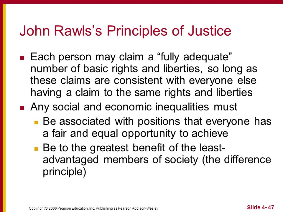 an overview of rawls difference principle Justice as fairness: a restatement john rawls  in particular his famous difference principle rawls has met these objections,  austrian economics overview.