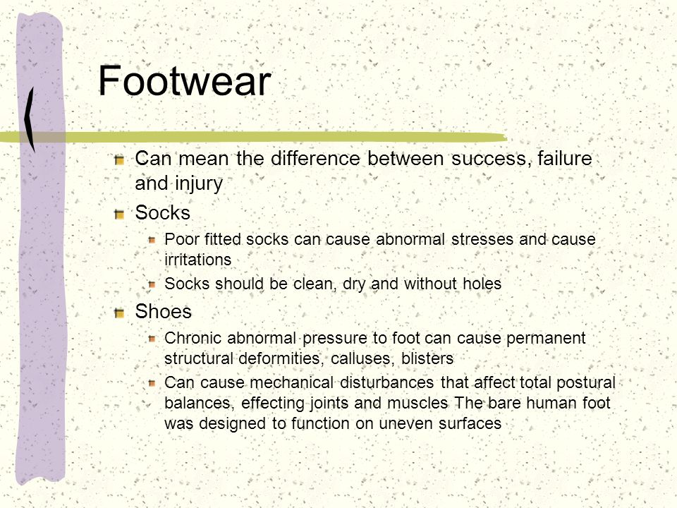Footwear Can mean the difference between success, failure and injury