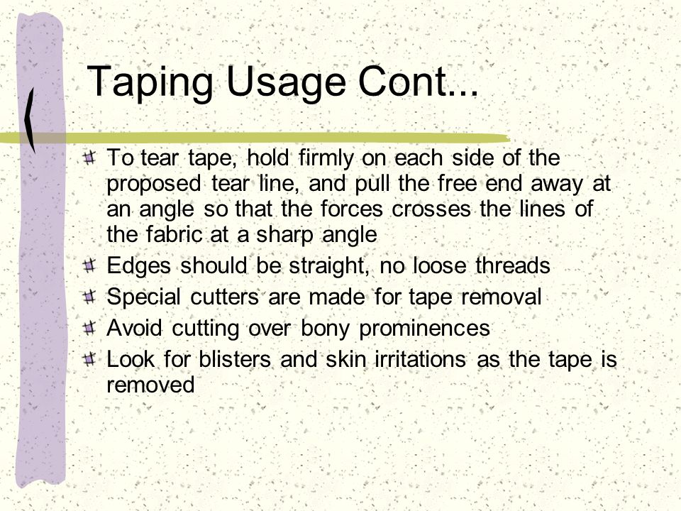Taping Usage Cont...