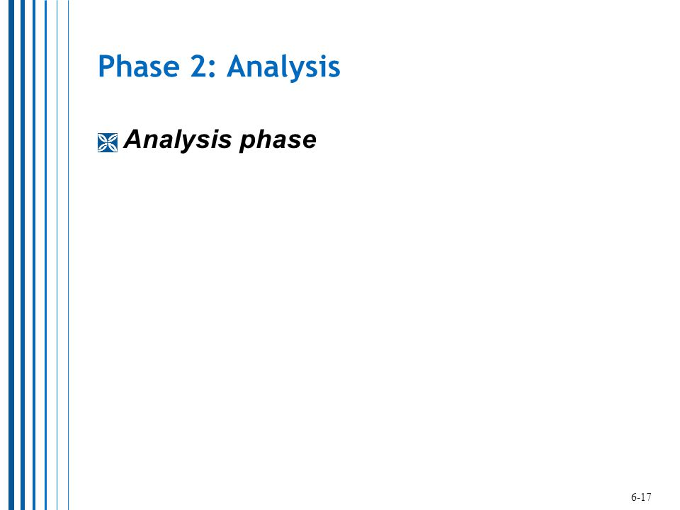 Phase 2: Analysis Analysis phase 6-17