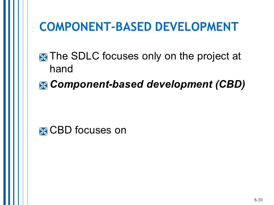 COMPONENT-BASED DEVELOPMENT