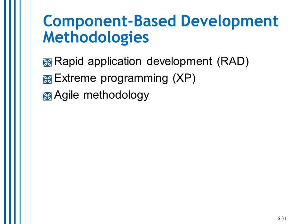 Component-Based Development Methodologies