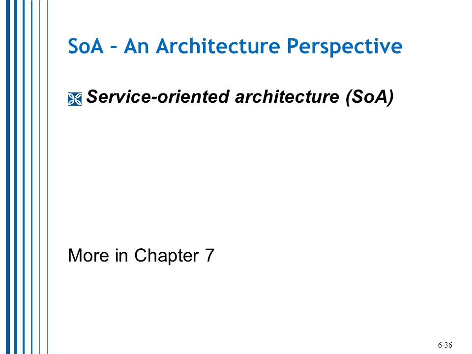 SoA – An Architecture Perspective