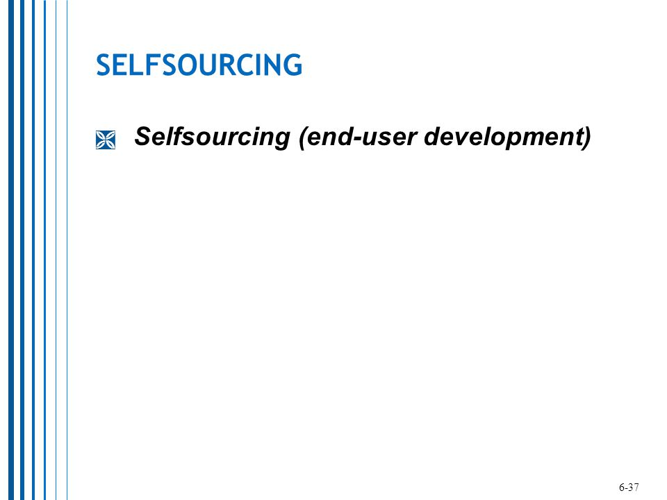 SELFSOURCING Selfsourcing (end-user development) 6-37