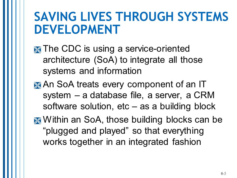 SAVING LIVES THROUGH SYSTEMS DEVELOPMENT
