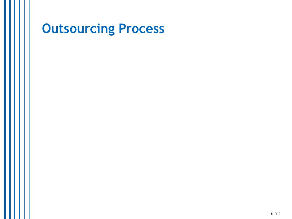 Outsourcing Process 6-52