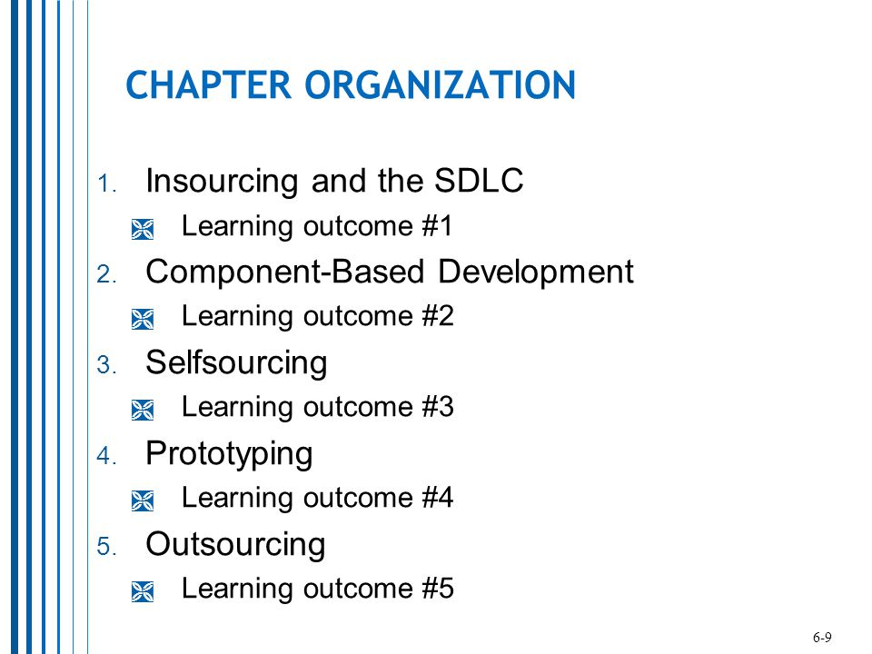 CHAPTER ORGANIZATION Insourcing and the SDLC