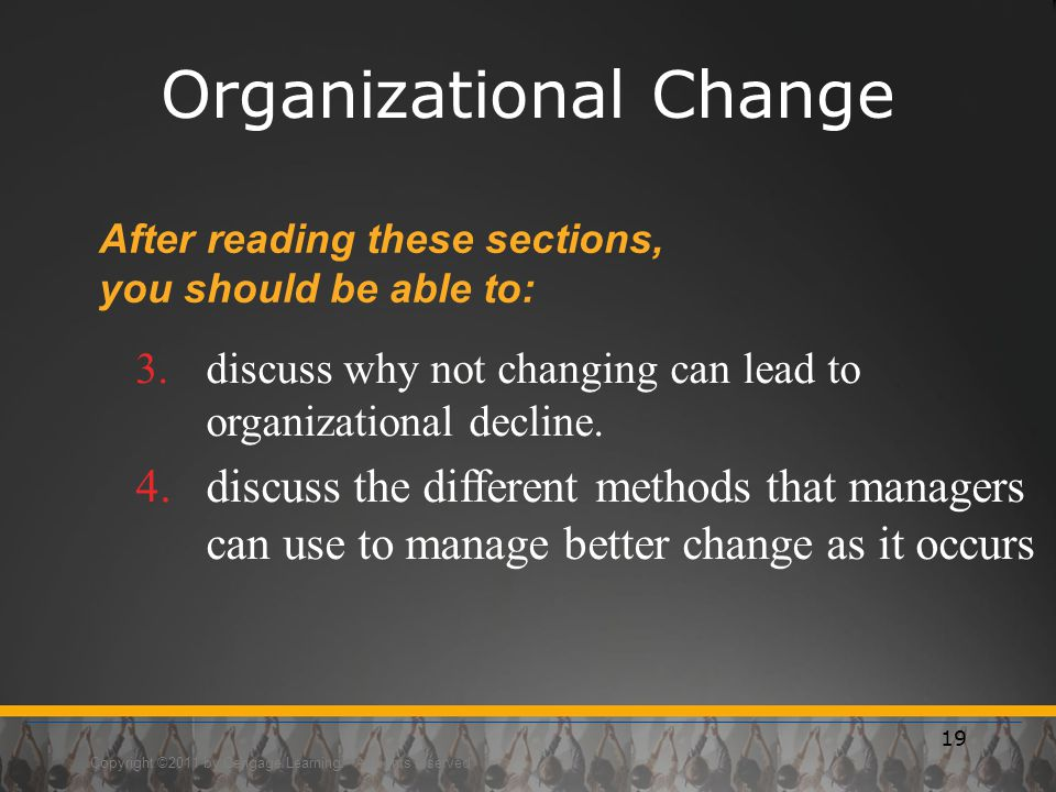 organizational change is not suce Here are the biggest mistakes in managing change -- and the large-scale organizational change usually triggers emotional reactions -- denial.