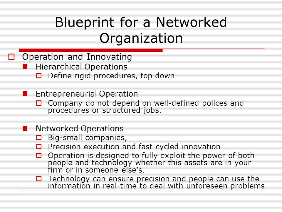 Building the networked business ppt video online download blueprint for a networked organization malvernweather Gallery