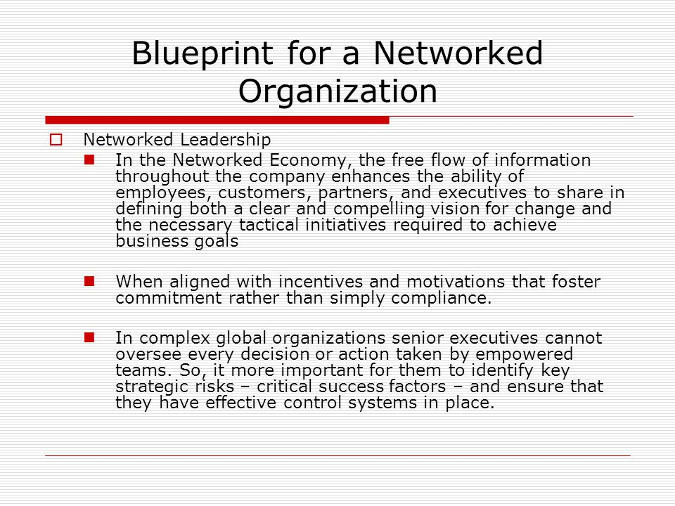 Building the networked business ppt video online download blueprint for a networked organization malvernweather Choice Image