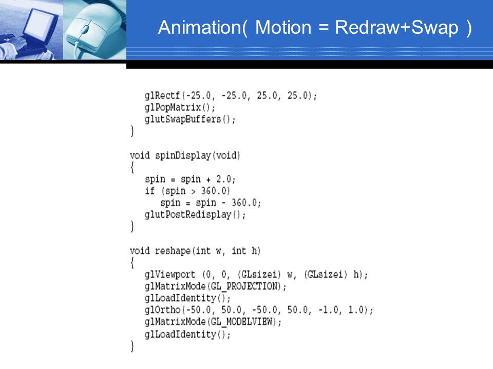 Animation( Motion = Redraw+Swap )