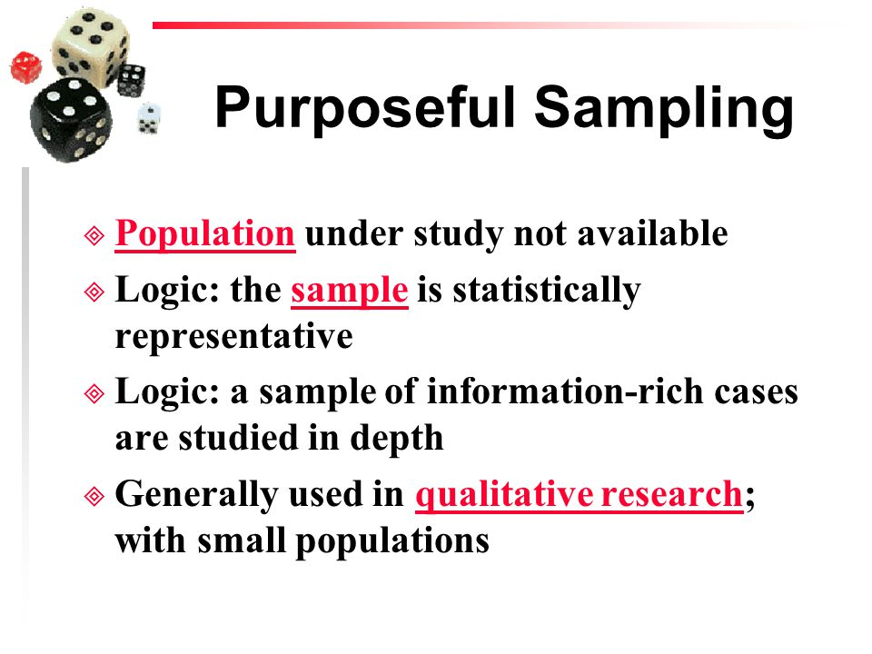 purposive sampling in qualitative research Purposive sampling is a non-probability sample it is selected based on  population characteristics and study objectives it may be referred to as.