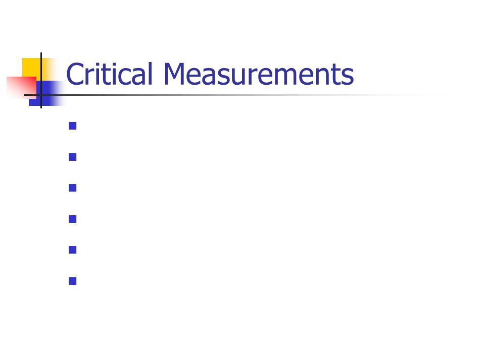 Critical Measurements