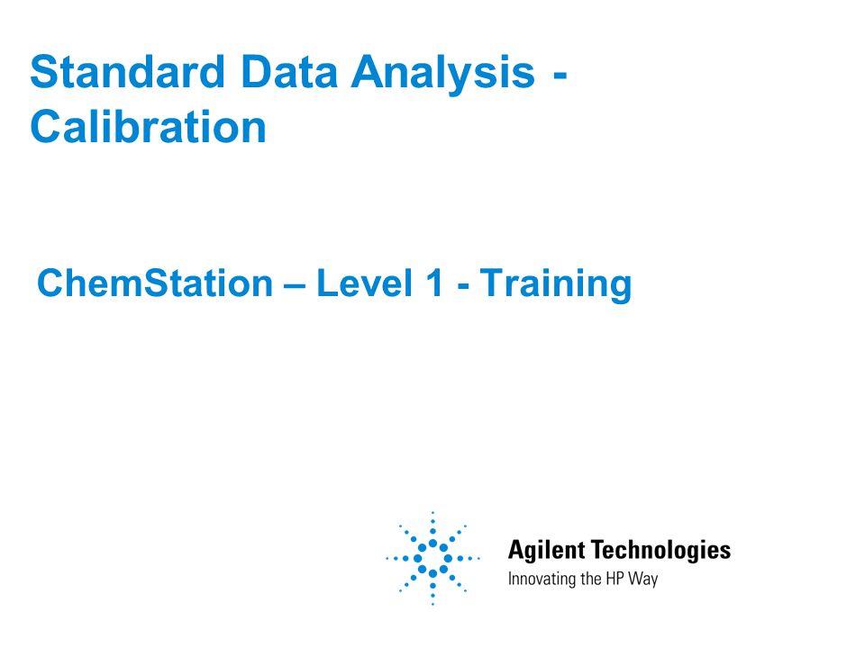 Standard Data Analysis - Calibration