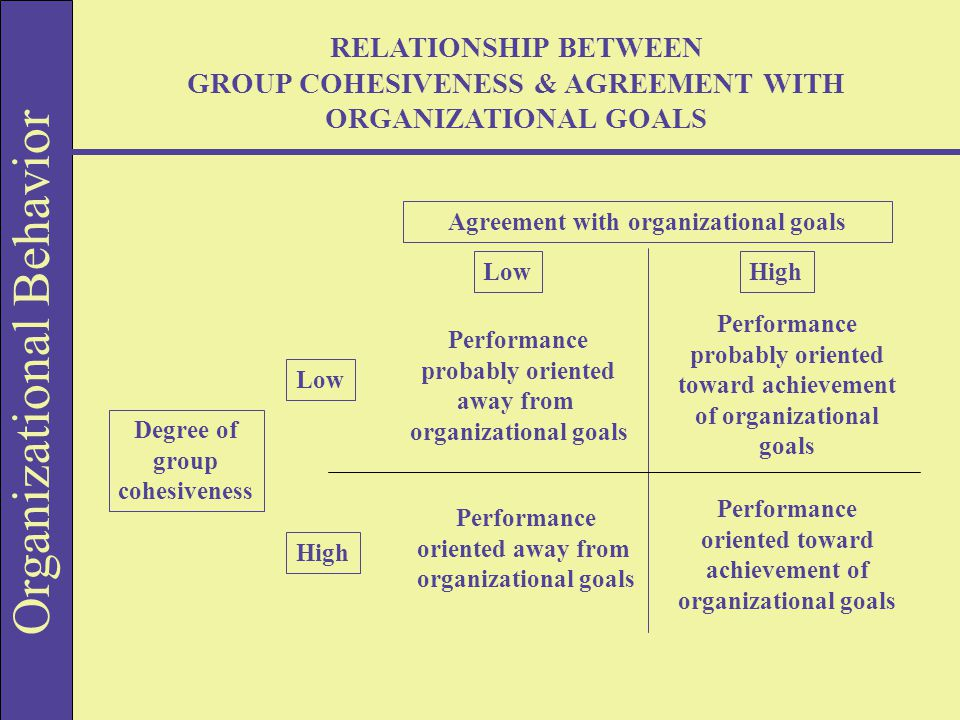 group cohesiveness and its relationship to performance