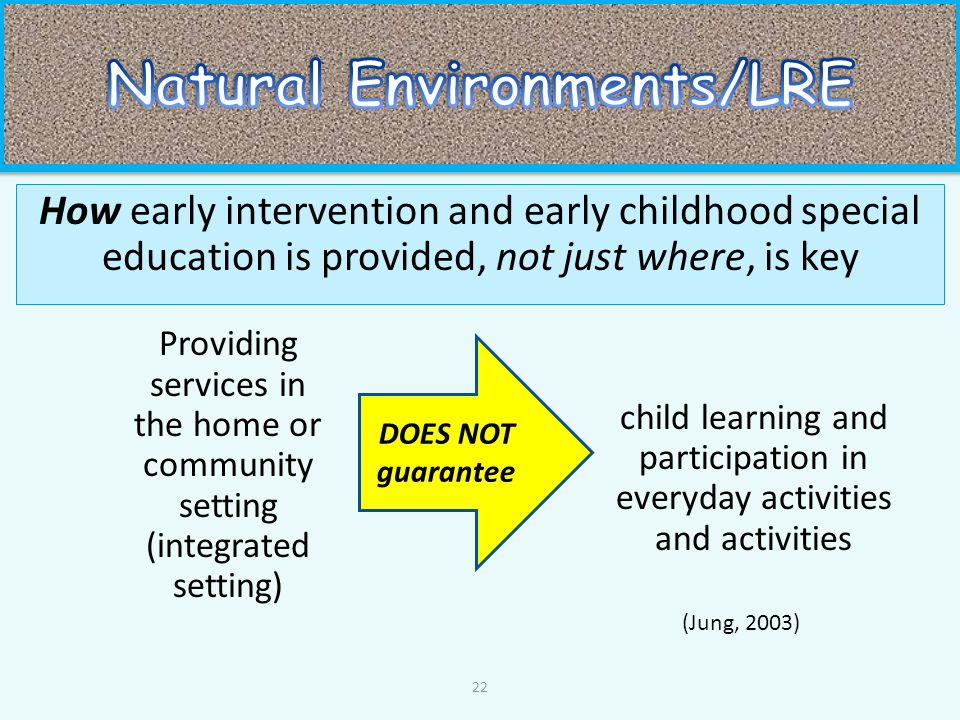 early intervention in special education pdf