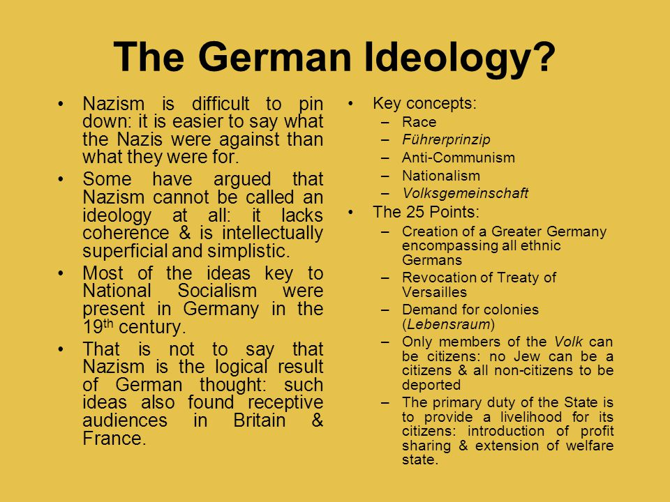 an introduction to the analysis of nazism Translations of nazi propaganda material from the period before hitler took power, including examples of early writings by joseph goebbels.