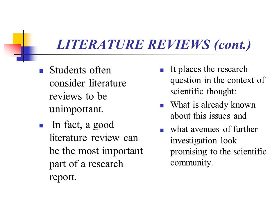 explain the importance of a literature review in a dissertation A literature review serves several purposes in your dissertation a good literature review would be able to explain can contain and the importance of.