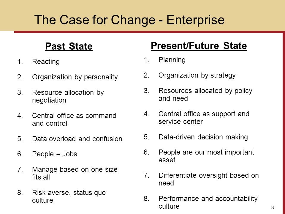 The Case for Change - Enterprise