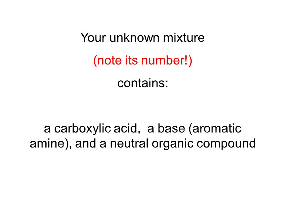 identification of an unknown organic acid essay Free essay: identification of an unknown organic acid chem 1211k lab drawer  #15 wednesday november 13th, 2013 unknown number:.