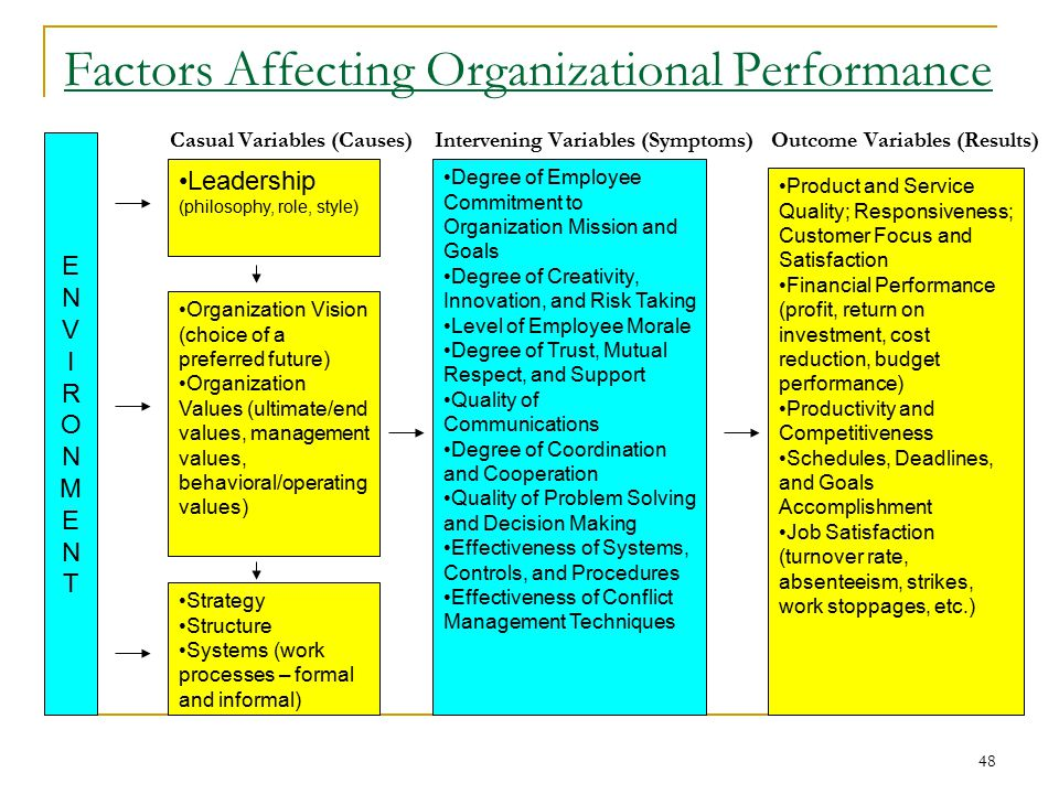 Factors influencing employee performance appraisal system