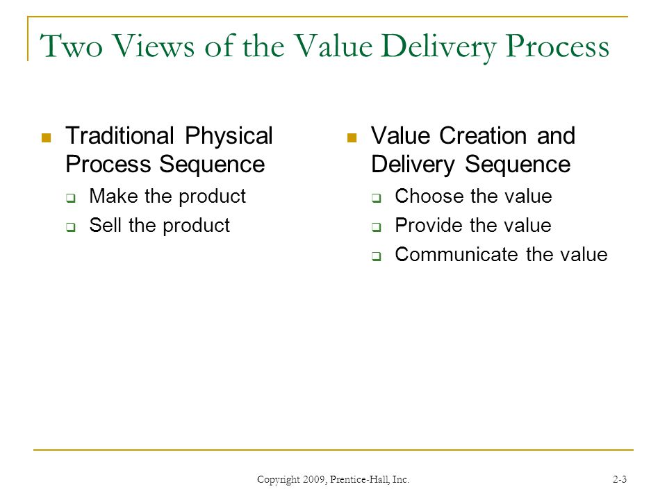 Two Views of the Value Delivery Process