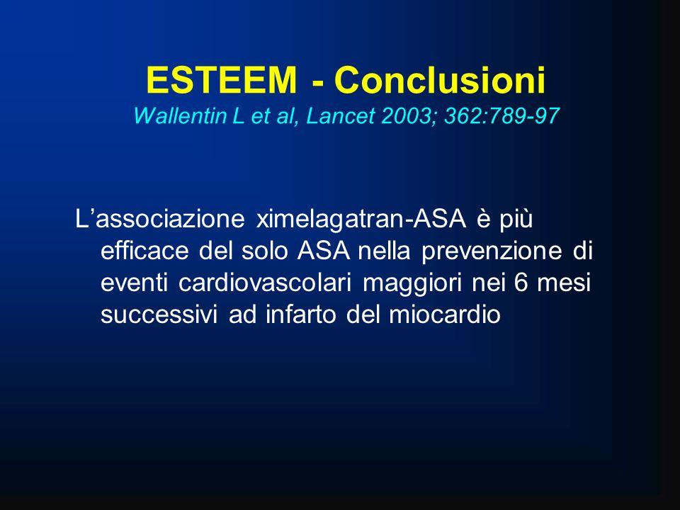 ESTEEM - Conclusioni Wallentin L et al, Lancet 2003; 362:789-97