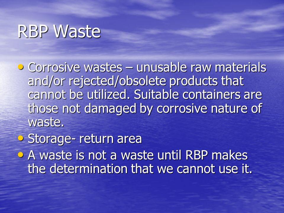 RBP Waste