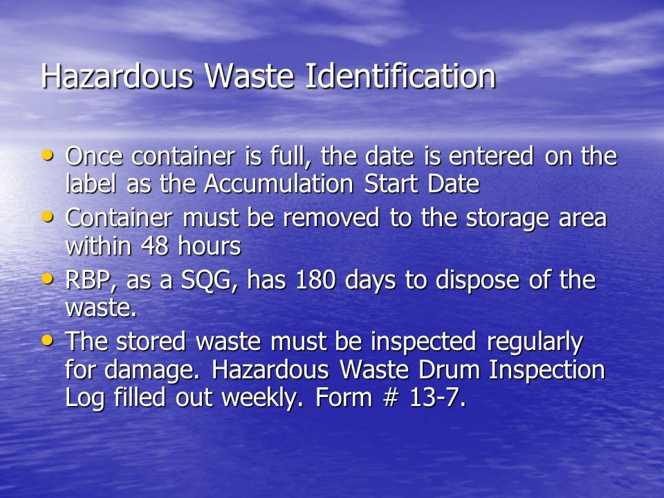 Hazardous Waste Identification