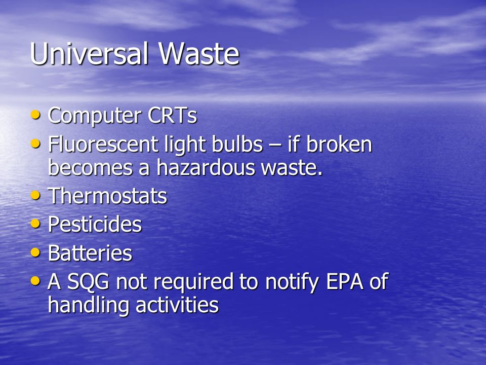 Universal Waste Computer CRTs