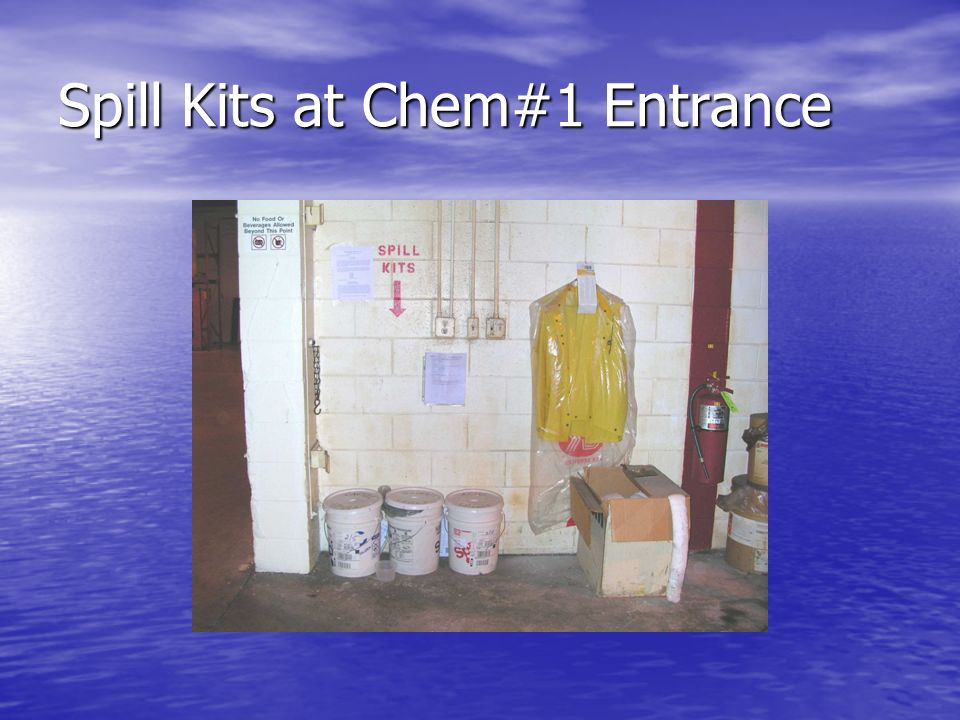 Spill Kits at Chem#1 Entrance